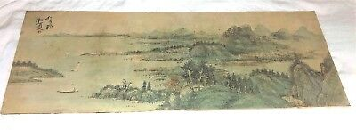 Large OLD CHINESE PAINTING on Canvas Signed
