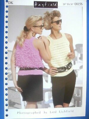 "Hayfield Knitting Pattern 00156- Ladies Sleeveless Top in DK 28""-38""- Not a copy"