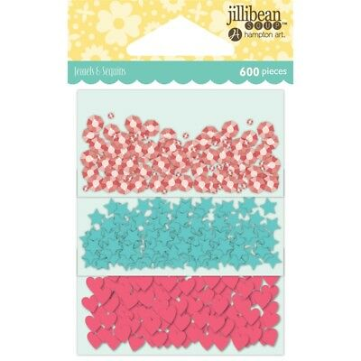 Jillibean Soup Shaker Card Sequin Pack-birthday W/shapes, 600/pkg