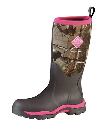 NIB The Original Muck Boot Company Women's WOODY MAX PINK/REALTREE CAMO
