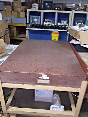 "Rahn Precision Pink Granite Inspection Plate, 36""x48""x6"" With Stand"