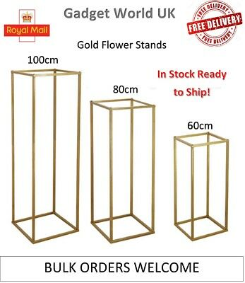 Gold Flower Stand Wedding Party Decor 100cm 80cm 60cm Tall Free Delivery
