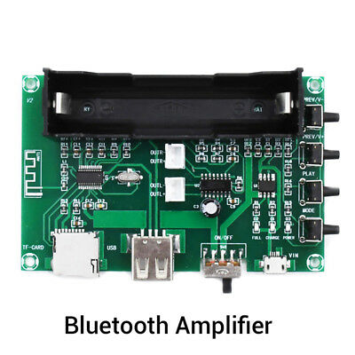 Bluetooth Power Amplifier Board PAM8403 Stereo AMP USB 18650 Battery Power SEAU