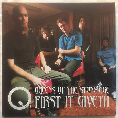 "QUEENS OF THE STONE AGE First it Giveth 7"" red vinyl Kyuss Fu Manchu Homme"