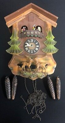"Vintage ""Regula"" Musical Cuckoo Clock, E. Schmeckenbecher Made In West Germany"