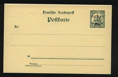 Germany   New  Britain  5 cent postal card  unused          MS0912
