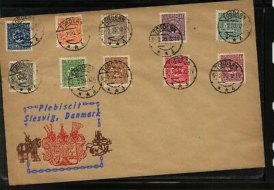 Schleswig  large  cover nice franking   1920  cancels         MS1117