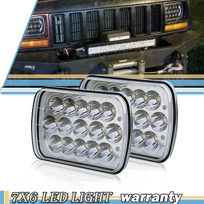 "For Nissan Pickup Hardbody 5X7"" 7X6"" L/r Drl Sealed Beam Led Headlights X2 Rosh"