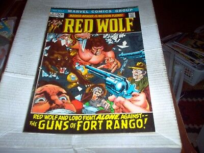 Red Wolf Vol.1 # 1 Syd Shores Art Thunder Of War Drums 1St Big Issue Look Vf-