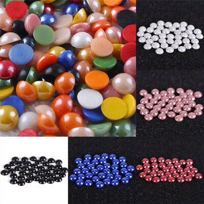 Mixed Flat Back Pearls Rhinestones Embellishments Face Gems Craft Card DIY Gv