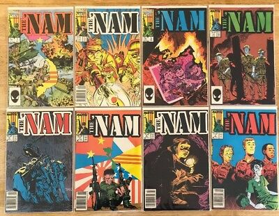 MARVEL COMICS LOT OF 15 THE 'NAM 1986 #1-3,5-14,52,53. Featuring Punisher Fair