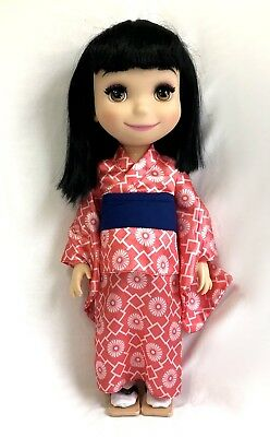 """Disney Store Animator Doll Japan Singing It's A Small World 16"""" RARE Deboxed"""