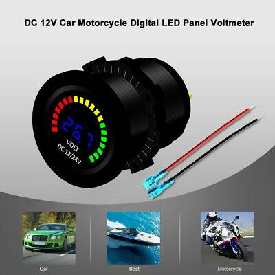 3-Digit Dc 12V Auto Moto Barca Digitale Led Pannello Tensione Voltmetro Cs M5U6