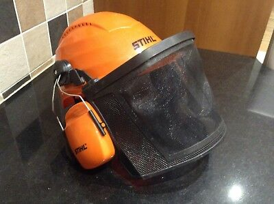 Stihl Rockman Safety Helmet Construction/ Chainsaw/ With Visor And Ear Defenders