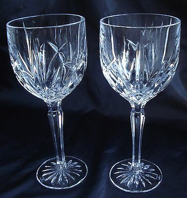"""Waterford Marquis Water/wine Goblets Set 2 """"Brookside"""""""
