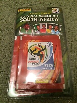 Panini World Cup WC WM 2010 - rare 5 packet blister pack