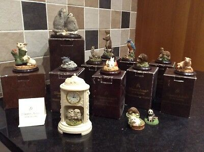 14 Country Artists Ornaments Birds, Animals , Clock