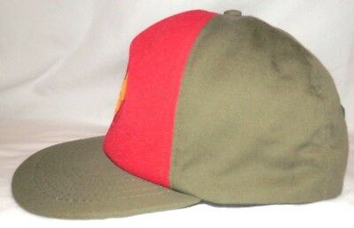 BSA Boy Scouts Official Canvas Olive Trucker Hat M/L Snapback