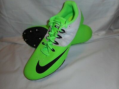 Nike Zoom Rival S 8 Voltage Green/Black W Spikes 806554-300 Men's Sz 12 (Unisex)
