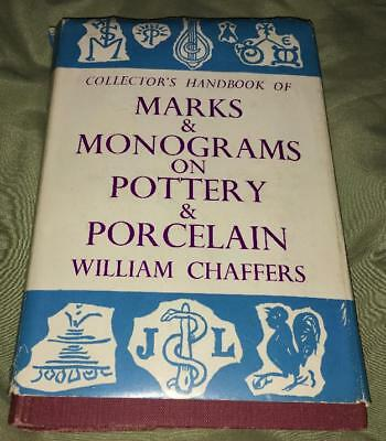Collectors HANDBOOK MARKS MONOGRAMS POTTERY PORCELAIN CHAFFERS REFERENCE BOOK