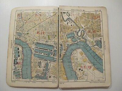 VINTAGE 1930's BACON'S 'UP TO DATE ATLAS & GUIDE TO LONDON'  Cover Price 2/6d
