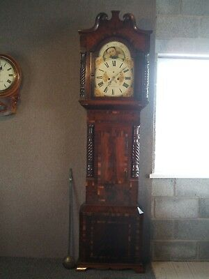 Antique Long Case  Grandfather Clock  / M.gordon  Wolverhampton