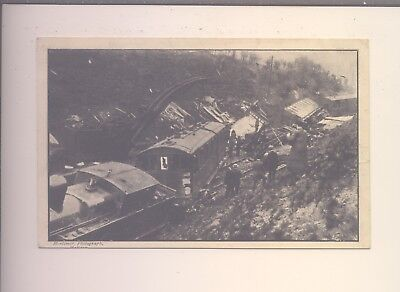 Old Postcard Of Hebden Bridge Railway Disaster June 21St 1912