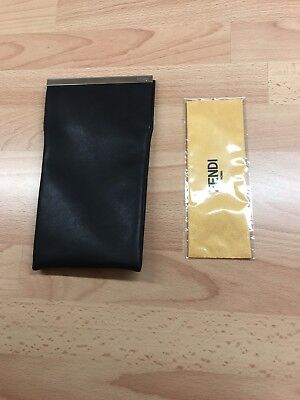 Fendi Faux Leather Glasses Case And Wipe