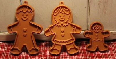 Vintage Hallmark Gingerbread Boy * Girl * Mini Gingerbread Cookie Cutters!