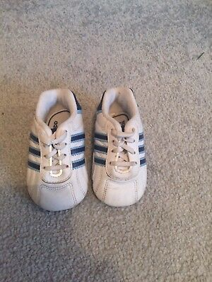 58f7fd3d56fcf BABY BOYS ADIDAS Crib Trainers Shoes - EUR 2