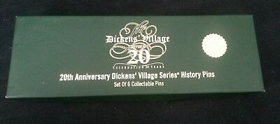 Dept, Department 56 20th Anniversary Dickens Village Series History Pins Set/6
