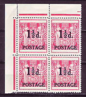New Zealand 1950; Black Surcharge; Single In Block Of 4; Sc # 273; Mh