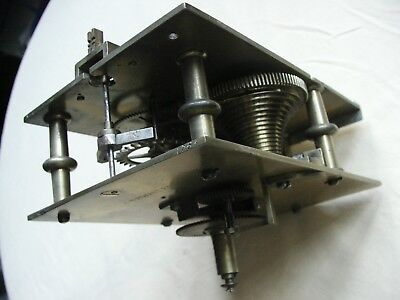 A nice old I Thwaites Fusee clock movement five pillar number 1765 for spares.