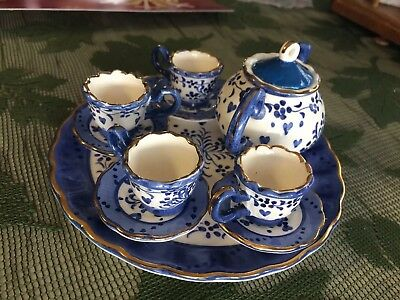 VINTAGE PORCELAIN TEA SET~10 PIECE SET~MINI TEA SET, Defects