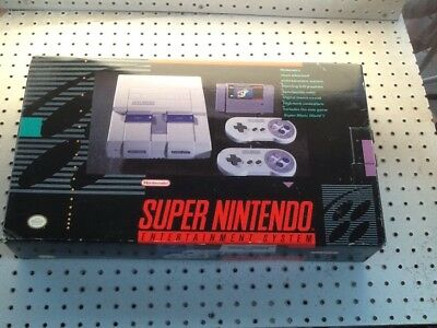 Super Nintendo  SNES Box ,Styrofoam Insert, And Papwerwork ONLY NO CONSOLE