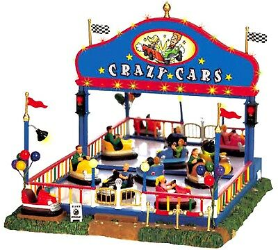 Lemax Holiday Decor Crazy Cars Village Carnival Ride W/ Sights and Sound #64488