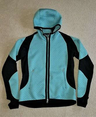 Women's NIKE Quilted SPHERE Full Zip Jacket Hoodie Size Small Color Teal
