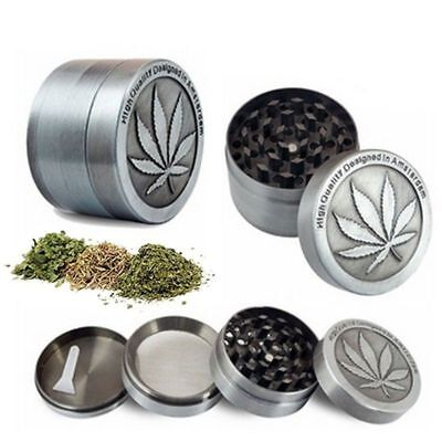 New Tobacco Herb Spice Grinder 4 Piece Herbal Alloy Smoke Metal Chromium Crusher