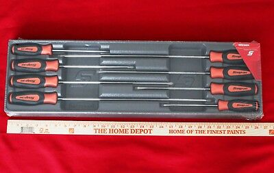 Snap On Long Screwdriver Set 8 Piece Orange  Instinct Handle Set SGDXL80BO