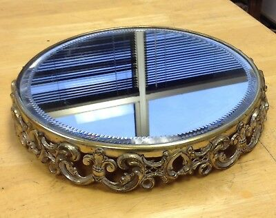Royal Chicago Silver Plated And Lacquered Plateau Vanity Mirror