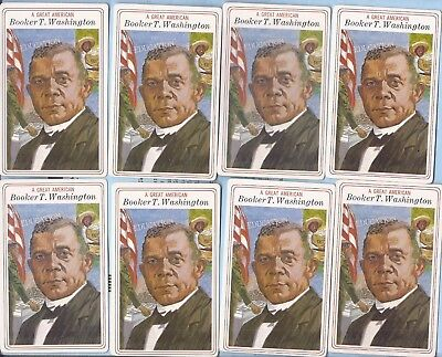 Booker T. Washington vintage card lot of 8 ,Great American Series , 1975
