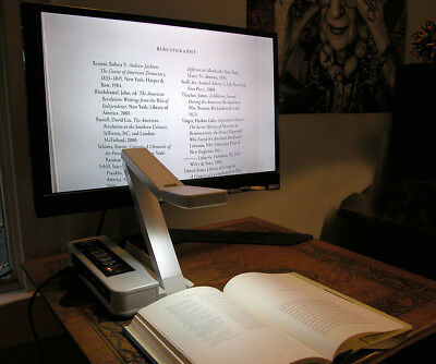 Tabletop Document Camera displays to HDMI 1080p TV or Display
