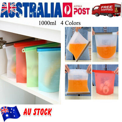 Reusable Silicone Food Preservation Bag Airtight Seal Food Storage Container