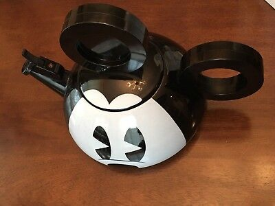 Mickey Mouse Whistling 2 3/4 Qt.Tea Kettle Mickey Co Copco 1996 Disney Used