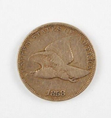 1858 Flying Eagle Cent United States Penny