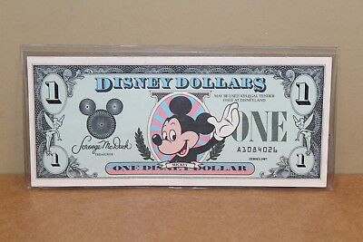 DISNEY DOLLAR - 1987 Series One Disney Dollar $1 Mickey Mouse