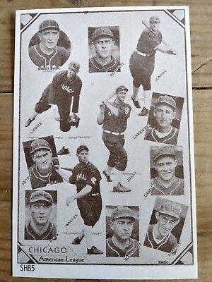 1930 CHICAGO WHITE SOX  TEAM PHOTOGRAPH  Picture Lyons Vintage