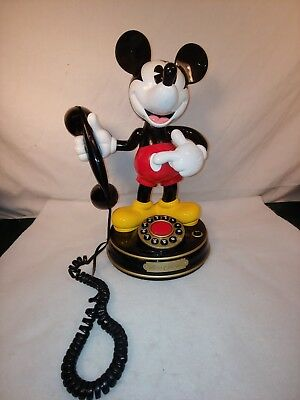 Vintage Mickey Mouse Rotary Telephone, Telemania 1297/ Model Mickey Mouse 1
