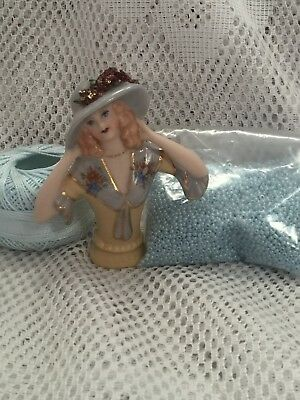 """Half doll """" Ellen"""" with cotton,beads and FREE pattern"""