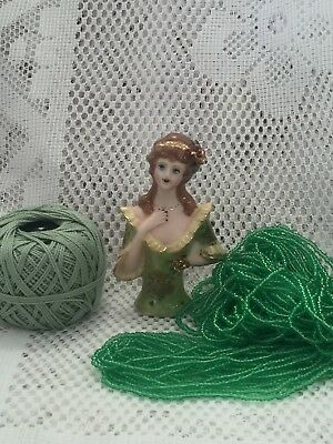 """Half Doll """"MONICA"""" with Cotton, Beads and FREE Pattern"""